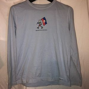 "VINTAGE ""LIFE IS GOOD"" BRAND LING SLEEVE T-SHIRT"